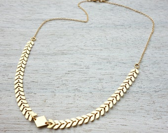 Andromeda Necklace, geometric chevron necklace