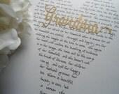 Custom Christmas grandmother gift, grandma Christmas or wedding present Proverbs 31 wife anniversary gift thank you