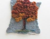 Fine Art in Fiber 'American Hophornbeam  - Autumn'  needle felted tree
