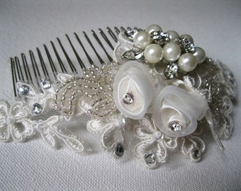 Wedding Hairpiece - gorgeous 3D headpiece