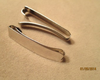 2 pc  Barrette Blank 1-1/2 inch