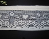 Vintage Valance Natural Hearts on Lace