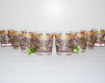 Vintage Glasses 50s Golden Gay Fad Signed Collection........Eight