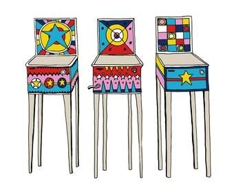Pinball art print