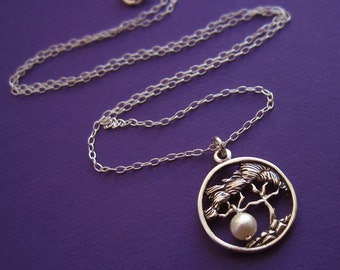 Sterling Silver Gift of Life Tree Necklace With Swarovski Pearl