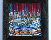 Soldier Field / Chicago Bears 5x5 Box Frame Art Print on Canvas