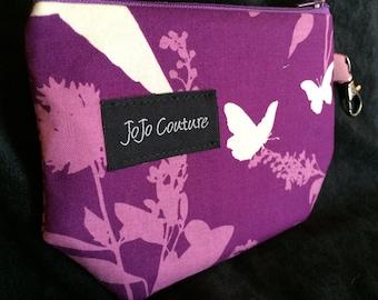The Sak by JoJo Couture, in Purple Silhouette Birds Butterflies