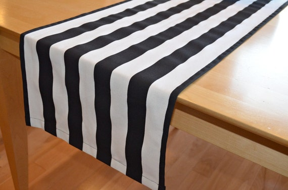 Black White Stripe Table Runner Canopy By Beeyourselfdesigns