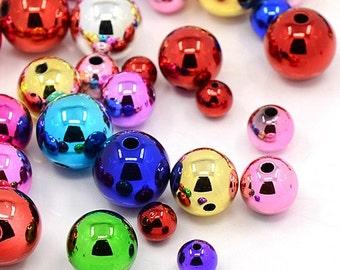 NEW! Christmas Ball Bead Mix - set of 32 beads