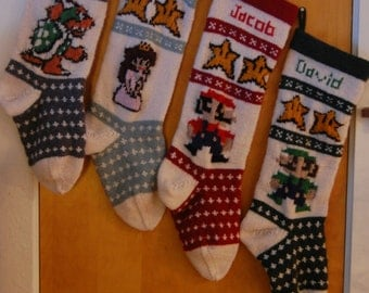 Fully Customizable Handknit Christmas Stockings