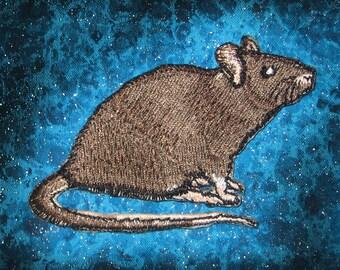 Agouti Rat Steam Punk  Iron on Patch