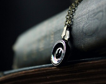 The Eye of Moriarty. Antique Glass Button Necklace.