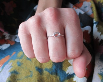 The Hattie Ring - Sterling Silver Love Knot Ring