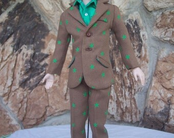 Tonner's Matt and Similar 17 inch Size Male Dolls - Suit in Brown Pebble Crepe and Silk Dress Shirt