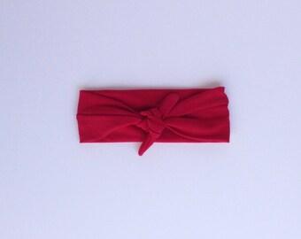 SALE Retro Red Headwrap