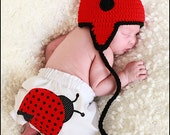 Ladybug Applique Baby Bloomers Hat NOT Included
