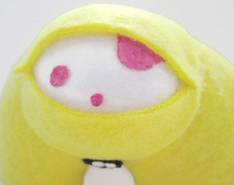 SALE Plush Monster - Yellow Cute Stuffed Kawaii Toy