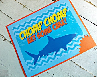 Shark Attack 8x10 Signage...Set of 1 Signage