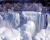 Frozen Niagara Falls, Ontario Canada, NY USA Fine Art Photography Photo Print