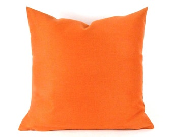 Orange SUNBRELLA Pillow Cover -  Melon Indoor Outdoor Pillow Cover - Salmon Pillow Cover - Tangerine Orange Pillow Cover