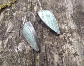 Travertine and Sterling Silver Earrings