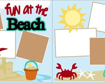 Fun At The Beach 2-page 12x12 do-it-yourself scrapbook kit