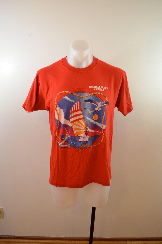 Vintage Mackinac Island Michigan T Shirt Sz Xl 80 39 S Thin
