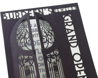 """Custom 5"""" x 7"""" Laser-Cut Invitations - Great for Weddings, Graduations, Events and More!"""