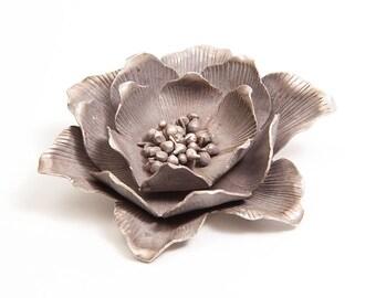 Large Vintage Silver Flower Pendant