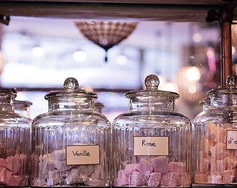 Paris candy shop, Sweet Shop, French Marshmallow, Paris Photograph, France, typography, Paris wall art, French kitchen art
