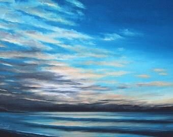 5x7 Greeting Card by Daina Scarola, Item #GC5X7-43 (morning light, beach, waves, dawn, clouds)