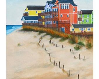 5x7 Greeting Card by Daina Scarola, Item #GC5X7-20 (beach house, Outer Banks, North Carolina)