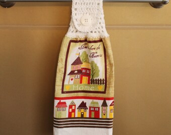 Home Is Where The Heart Is Crocheted Top Towel-KOW52