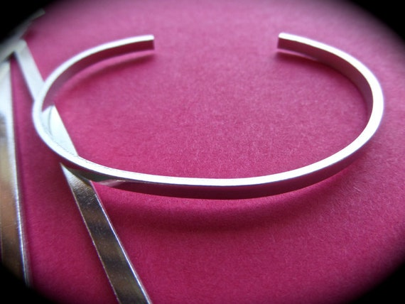 "1/8"" x 6"" Sterling 1 Blank 18 Gauge Polished Bracelet Metal Stamping Blank  - 1 FLAT Cuffs - Made in USA"