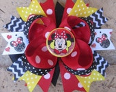 Minnie Mouse inspired Classic Custom Boutique Layered Hair Bow