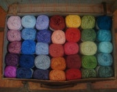 Single Skein Hand dyed Bamboo yarn