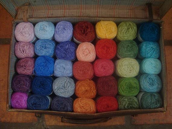 Single Skein Hand dyed Bamboo yarn