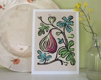 Mediterranean Fruit botanical digital colorful gardening art reproduction print set of four 5 x 7 kitchen home decor