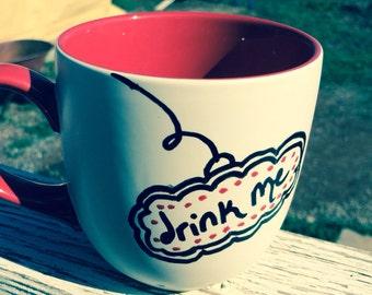 Drink Me- Alice in Wonderland Inspire tea mug-made to order
