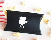 Movie Camera Favor Pillow Boxes Set of 25