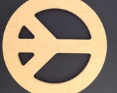Five Unpainted  16'' Peace Signs Made from  1/2'' MDF. 1-12