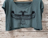 Reverie - Cropped tshirt - in Mossy Green - by Simka Sol