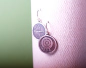 Sterling etched Archery love earrings