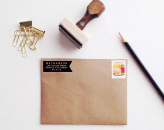 Modern Banner Address Stamp