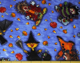 Fat Quarter Cute Suzy's Zoo Trick or Treat Halloween Fabric