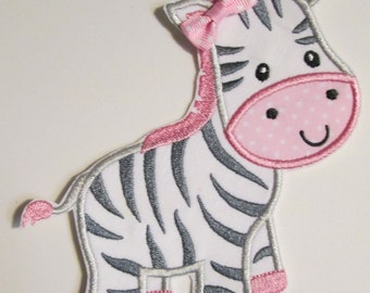 Iron On Applique - Baby Zebra