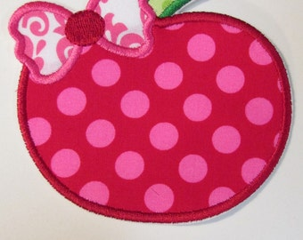 Iron On Applique - Apple Bow