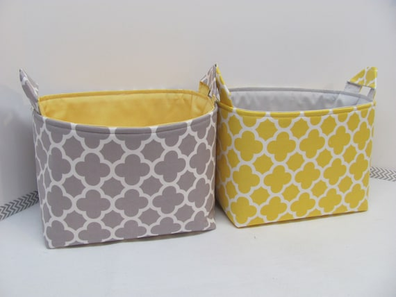 LARGE Fabric Organizer Baskets Storage Container Toy Bin Diaper Cady ...