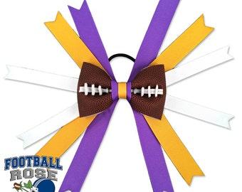 Football Hair Bow - Minnesota