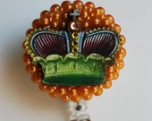 Her Majesty ID Badge Reel - RN ID Badge Holder - Zipperedheart